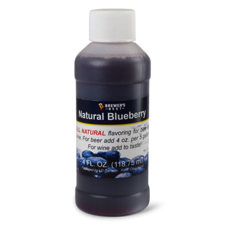 Blueberry Natural Flavoring, 4 fl oz.