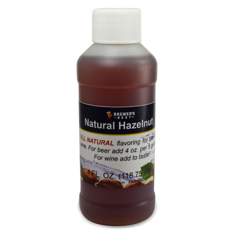 Hazelnut Natural Flavoring, 4 fl oz.