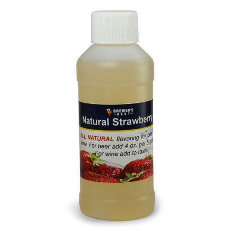 Strawberry Natural Flavoring, 4 fl oz.