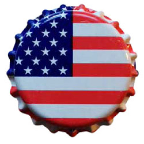 American Flag Crown Caps O2 Barrier, 144 ct.