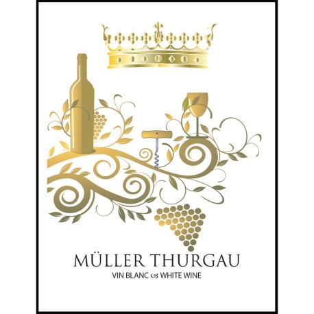 Muller Thurgau Self Adhesive Wine Labels, pkg of 30