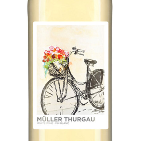 Muller Thurgau Self Adhesive Wine Labels, pkg of 30