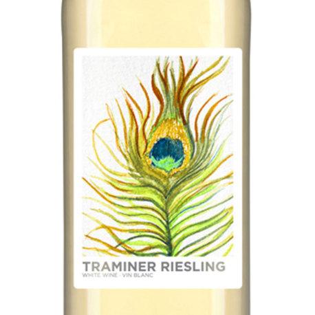 Traminer Riesling Self Adhesive Wine Labels, pkg of 30