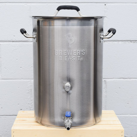 8 Gallon Brewer's BEAST Stainless Brew Kettle with Ball Valve