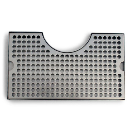 12 in. Stainless Steel Counter Mount Drip Tray w/Cutout