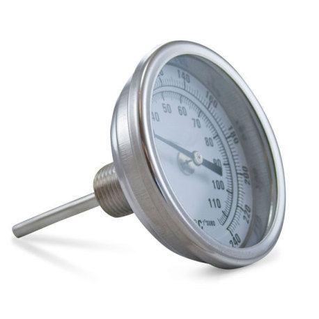 "Fermentap Brew Pot Thermometer 2.5"" Stem"