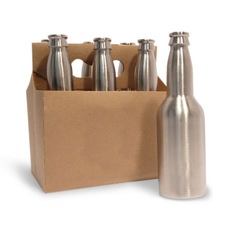 Stainless Steel Bottles, 12 oz. 6 pack