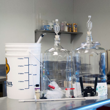 Deluxe Brewing Starter Kit with Glass Carboys