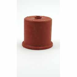 Red Rubber Carboy Cap, Single Hole