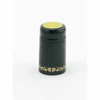 Black/Gold Grape Shrink Caps,