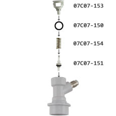 Gas Ball Lock Disconnect Parts