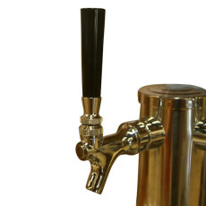 Straight Faucet Knob - Black_3