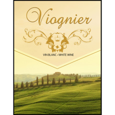 Viognier Self Adhesive Wine Labels, pkg of 30
