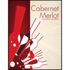 Cabernet Merlot Self Adhesive Wine Labels, pkg of 30
