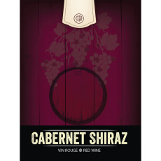 Cabernet Shiraz Self Adhesive Wine Labels, pkg of 30
