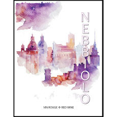 Nebbiolo Self Adhesive Wine Labels, pkg of 30