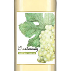 Chardonnay Self Adhesive Wine Labels, pkg of 30