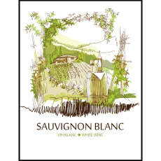 Sauvignon Blanc Self Adhesive Wine Labels, pkg of 30