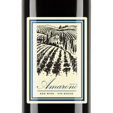 Amarone Self Adhesive Wine Labels, pkg of 30
