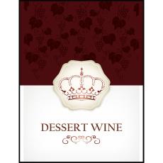 Dessert Wine Self Adhesive Wine Labels, pkg of 30