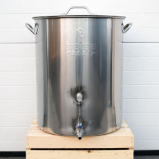16 Gallon Stainless Steel Brew Kettle with Ball Valve
