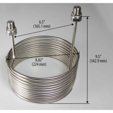 SS Cooling Coil for 7 Gallon Fermenator, Blichmann Engineering 2