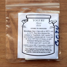 Sweet Yogurt Direct Set Culture, 5 Packets