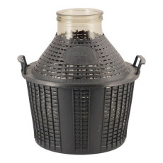 Wide Mouth DemiJohn - 15 Liter (4 Gallon) - with Plastic Basket