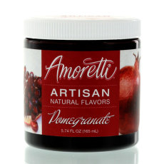 Amoretti Pomegranate Artisan Natural Flavoring, 8 oz.
